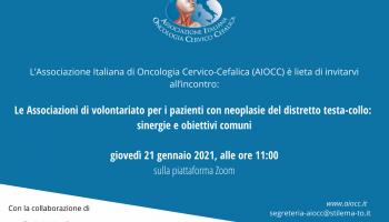 AIOCC incontra le Associazioni di Volontariato per pazienti con neoplasie del distretto testa-collo
