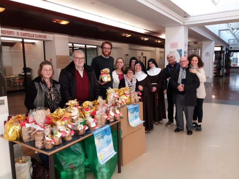 Primo banchetto Ailar presso IFO-Regina Elena San Gallicano a Roma, Dicembre 2018